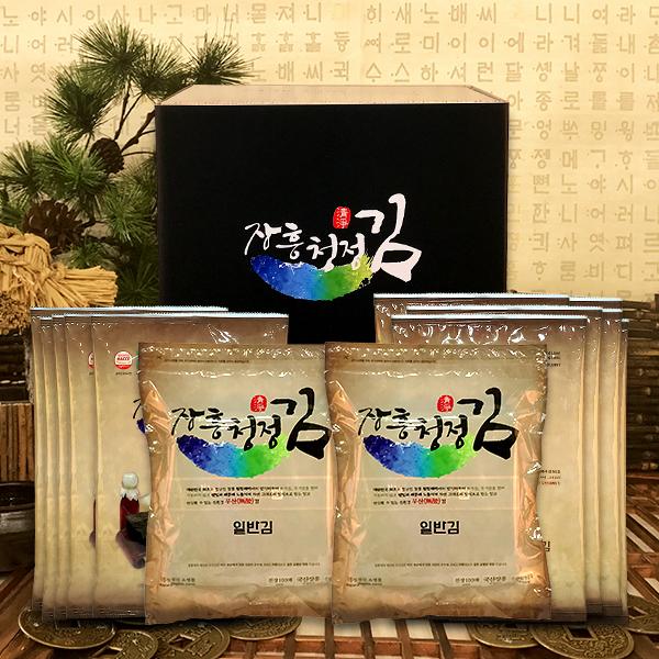 무산김 장흥청정김 명품 8호 선물세트