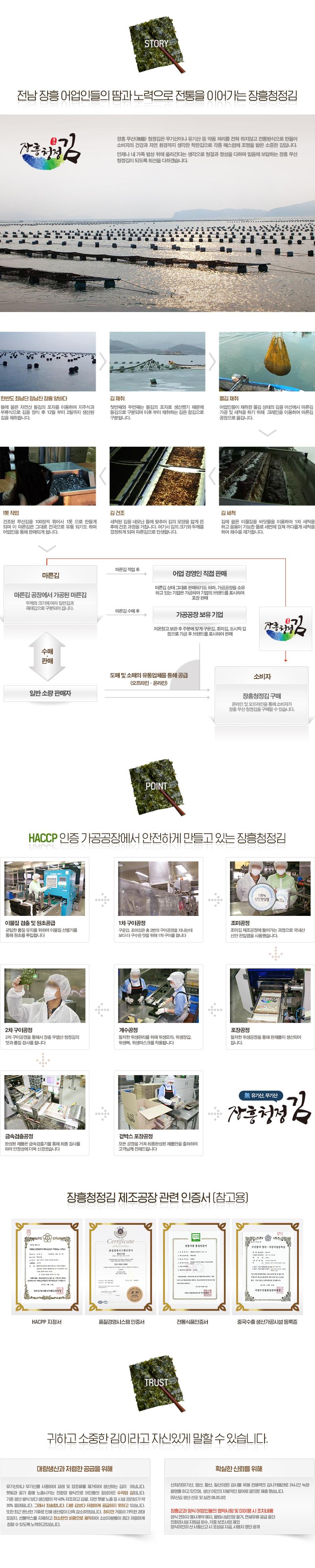 장흥청정김 조미김30봉 홈쇼핑 기획 구성